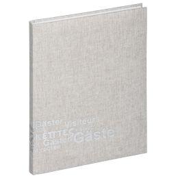 PAGNA Gästebuch Europa, (B)195 x (H)255 mm, 192 Blatt, beige