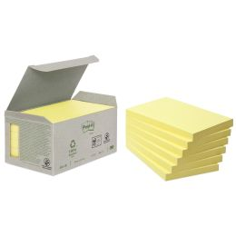 Post-it Haftnotizen Recycling, 127 x 76 mm, gelb