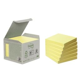 Post-it Haftnotizen Recycling, 76 x 76 mm, gelb