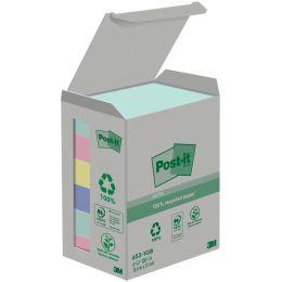 Post-it Haftnotizen Recycling, 38 x 51 mm, 6-farbig
