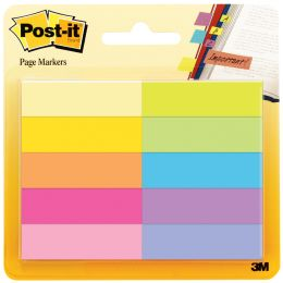 Post-it Pagemarker aus Papier, 12,7x44,4 mm, farbig sortiert
