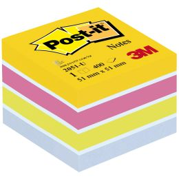 Post-it Haftnotiz-Würfel Mini, 51 x 51 mm, Ultrafarben
