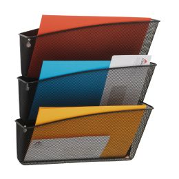 ALBA Wand-Prospekthalter MESHFILE, A4, schwarz, 3 Fächer
