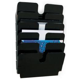 DURABLE Wand-Prospekthalter-Set FLEXIPLUS 6, A4, 6 Fächer