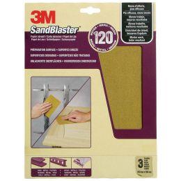 3M SandBlaster Hochleistungsschleifpapier, mittel/P150