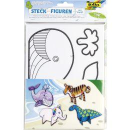 folia Steckfiguren Tiere, aus Pappe