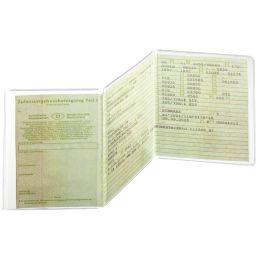 DURABLE Ausweishülle, aus PP, dreiteilig, transparent