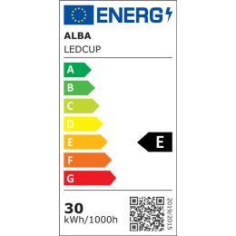 ALBA LED-Stehleuchte LEDCUP, weiß