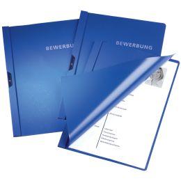 DURABLE Bewerbungsmappe, DIN A4, blau, mit Clip