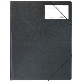DURABLE Eckspanner Premium, DIN A4, Hartfolie, schwarz
