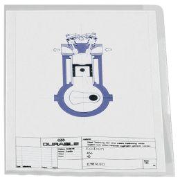 DURABLE STANDARD Sichthülle, DIN A4, PP, 0,12 mm, blau