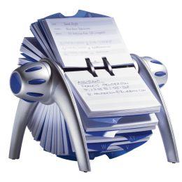 DURABLE Adresskartei TELINDEX flip, metallic-silber / blau