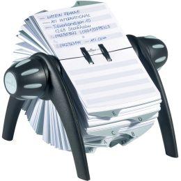 DURABLE Adresskartei TELINDEX flip, schwarz / grau