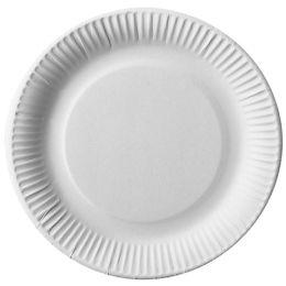 PAPSTAR Papp-Teller pure, rund, 230 mm, weiß, 25er