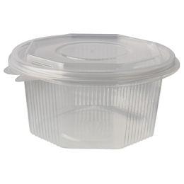 PAPSTAR Verpackungsbecher eckig, mit Klappdeckel, 500 ml