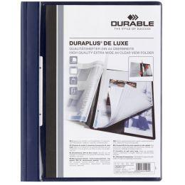 DURABLE Schnellhefter DURAPLUS de Luxe, DIN A4, dunkelblau
