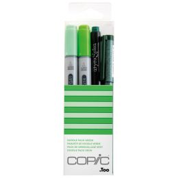 COPIC Marker ciao, 4er Set Doodle Pack Green