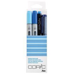 COPIC Marker ciao, 4er Set Doodle Pack Blue