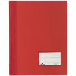 DURABLE Schnellhefter DURALUX, DIN A4, rot-transluzent
