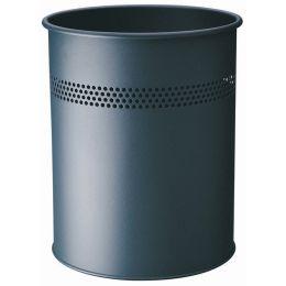 DURABLE Papierkorb METALL, rund, 15 Liter, anthrazit