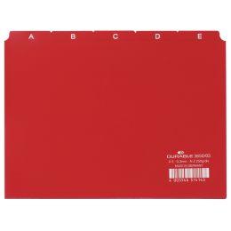 DURABLE Karteiregister A - Z, PP, A5 quer, rot, 25-teilig
