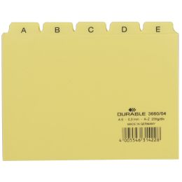 DURABLE Karteiregister A - Z, PP, A6 quer, gelb, 25-teilig
