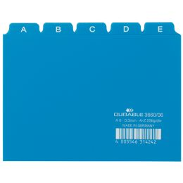 DURABLE Karteiregister A - Z, PP, A6 quer, blau, 25-teilig