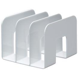 DURABLE Buchstütze TREND, Kunststoff, 3 Fächer, weiß