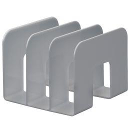 DURABLE Buchstütze TREND, Kunststoff, 3 Fächer, grau