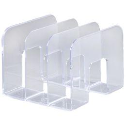 DURABLE Buchstütze TREND, Kunststoff, 3 Fächer, transpare