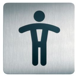DURABLE Piktogramm PICTO WC Herren, quadratisch