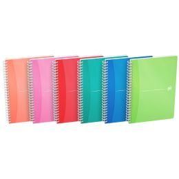 Oxford Spiralbuch My Colours, DIN A5, kariert, 90 Blatt