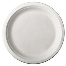PAPSTAR Zuckerrohr-Teller pure, rund, 230 mm, 12er