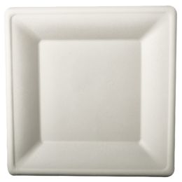 PAPSTAR Zuckerrohr-Teller pure, eckig, 260 x 260 mm, 12er