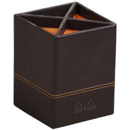 RHODIA Stifteköcher, aus Kunstleder, schwarz