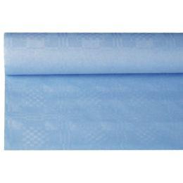 PAPSTAR Damast-Tischtuch, (B)1,2 x (L)8 m, hellblau