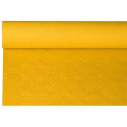 PAPSTAR Damast-Tischtuch, (B)1,2 x (L)8 m, gelb