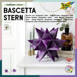 folia Faltblätter Bascetta-Stern, violett-transparent