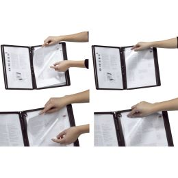 DURABLE Tafelträger 5 SHERPA, für 5 Sichttafeln A4, grau