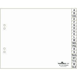 """DURABLE Kunststoff-Register, A-Z, A4 halbe H""""he, 20-teilig"""