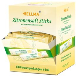 HELLMA Zitronensaft-Sticks, im Displaykarton