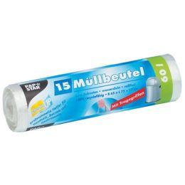 PAPSTAR Mülleimerbeutel HDPE, 20 Liter, transparent