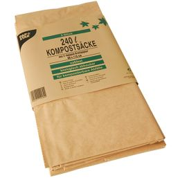 PAPSTAR Kompostsäcke, braun, 240 Liter, 2er