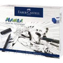 FABER-CASTELL Tuschestift PITT artist pen Manga Starter Set