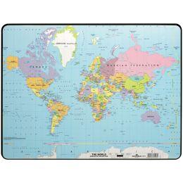 DURABLE Schreibunterlage, Motiv: Weltkarte, Kunststoff