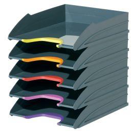 DURABLE Briefablagen-Set VARICOLOR, grau / farbiger Verlauf