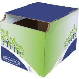 Fellowes BANKERS BOX Recycling-Behälter, klein, grün/blau