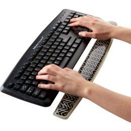 Fellowes Tastatur-Handgelenkauflage Photo Gel, schwarz/weiß
