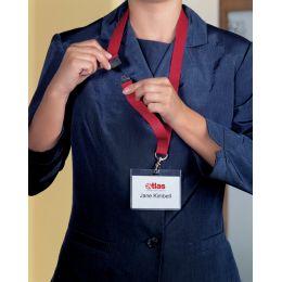DURABLE Textilband 20, mit Sicherheitsverschluß, rot