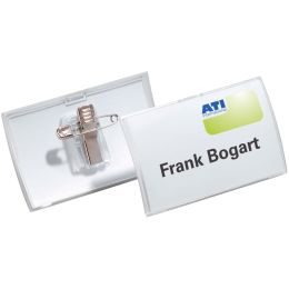 DURABLE Namensschild Click Fold, mit Kombiklemme, 90 x 54 mm
